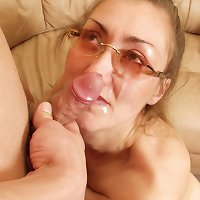 Nasty eye-glassed whore gabned in doggy-style by her nasty son