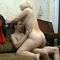 Mother and young son having sex