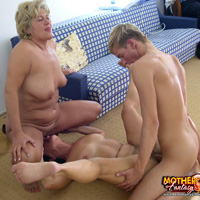 Two gorgeous mature moms fucking son on these pics