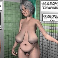 Granny peeps at her grandson jerking in xxx comics